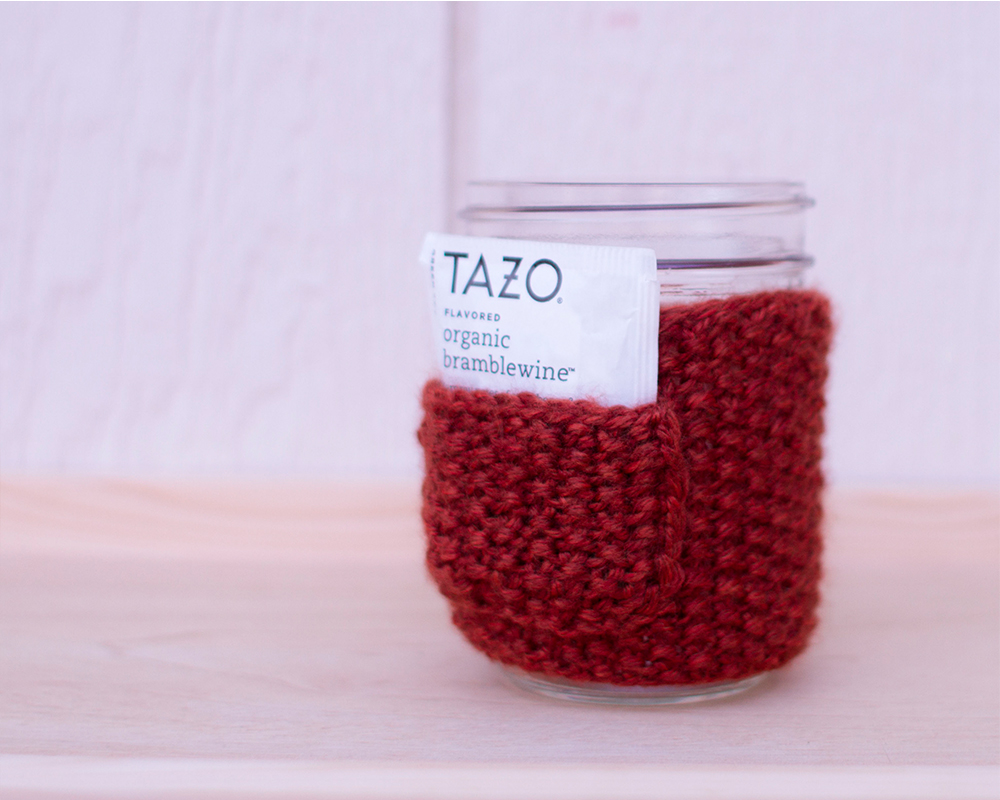 Free Mason Jar Cozy Pattern