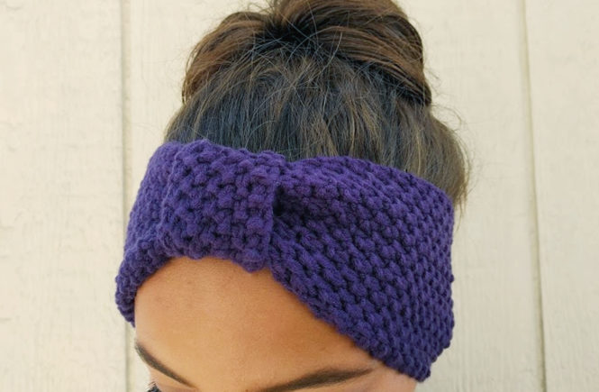 knitting, knit, ear warmer, earwarmer, loops and thread, michaels, yarn,