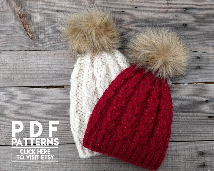 Mock Cable Knit Beanie