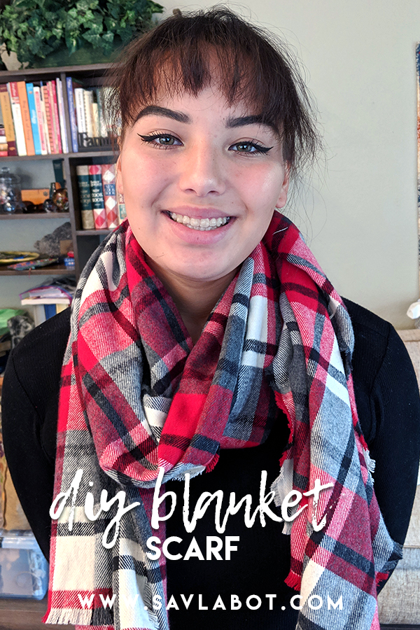 Handmade Holiday Blanket Scarf Gift Idea And Free Printable