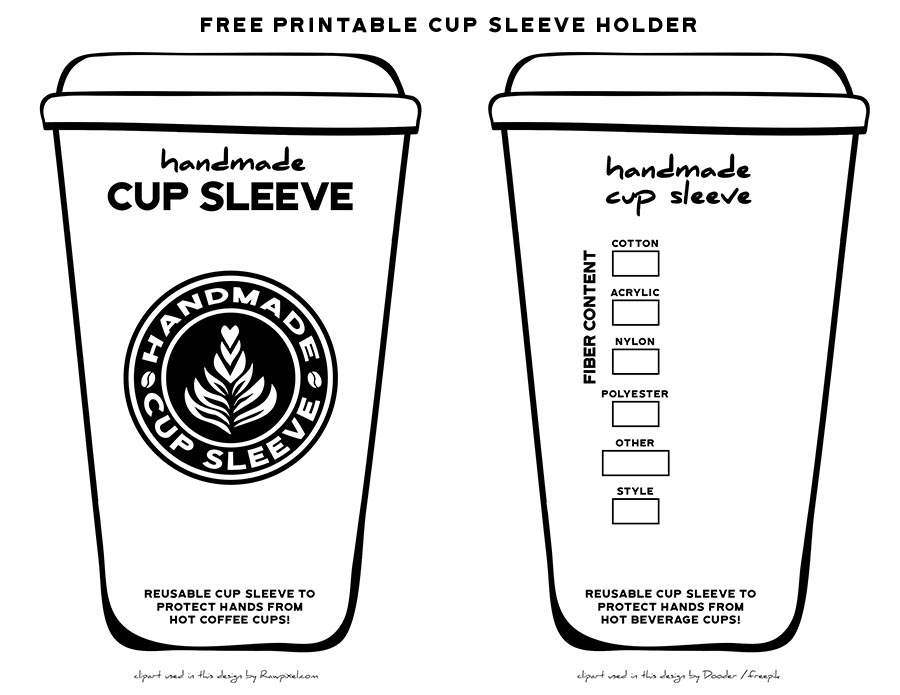 graphic relating to Coffee Cup Printable known as Free of charge Espresso Cup Sleeve Holder Printable Savlabot