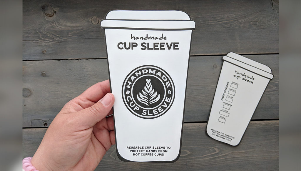 photograph relating to Coffee Cup Printable known as Cost-free Espresso Cup Sleeve Holder Printable Savlabot