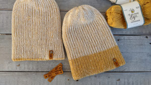 Knitting Machine Knit beanie