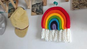 Mini Knit Rainbow Wall Hanging